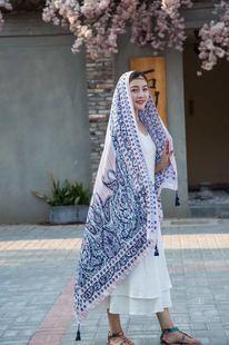 旗袍披肩女夏外搭复古薄款外套开衫长款中国风棉麻