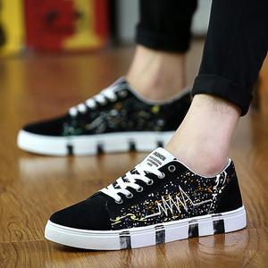 男鞋帆布鞋2016秋季韩版板鞋学院风学生运动鞋透气平底系带帆布鞋爸爸鞋