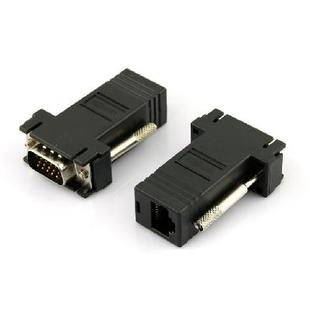 2pcs VGA Extender Male to LAN CAT5 CAT5e RJ45 Female Adapter
