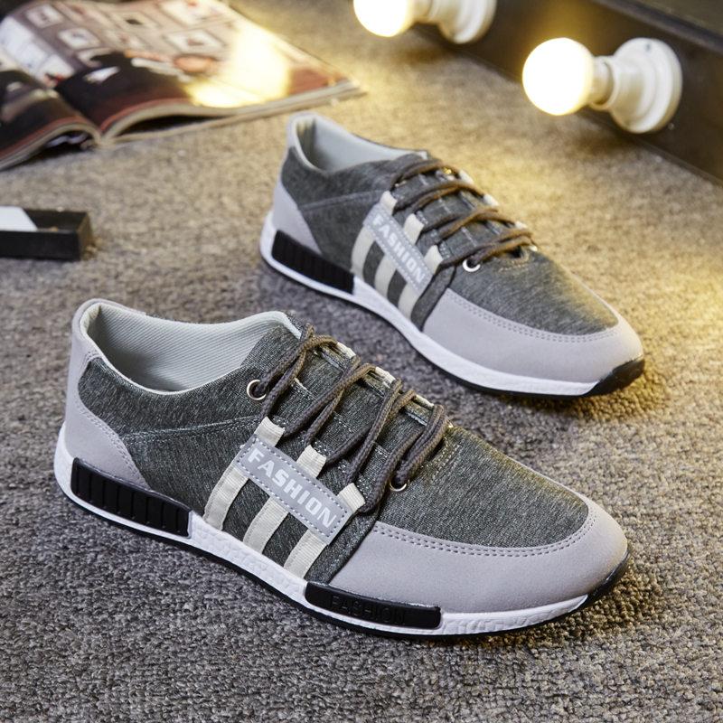秋季中年男士帆布鞋低帮休闲运动爸爸鞋系带单鞋软底布鞋防臭布鞋