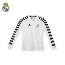 【官方正品】皇马 儿童白色运动训练长袖T恤 皇家马德里 阿迪达斯