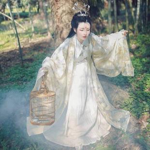 【高质量】司南阁毕方传统汉服女绣花刺绣织金交领齐腰襦裙非古装