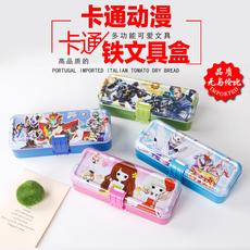 三层多功能铅笔盒小学生儿童文具盒男女孩铁盒卡通创意文具盒批发