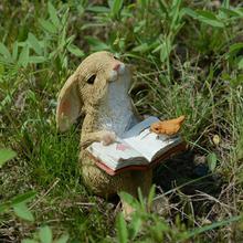 真自在zakka卡通创意兔子摆件田园花盆装 饰品生日礼物女生送儿童