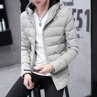 修身款羽绒服男士短款冬季加厚棉服青年学生韩版连帽外套潮男冬装