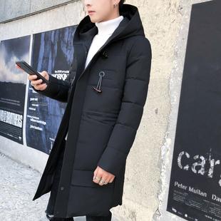 棉衣男冬季长款2019新款韩版潮流羽绒棉服加厚中长款连帽棉袄外套
