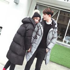 棉袄男冬季中长款情侣装韩版潮流棉衣外套2017新款修身男士面包服