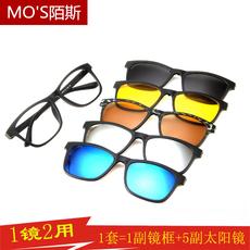 韩版磁吸近视偏光太阳镜夹片男女双层磁铁眼镜框两用墨镜贴片套镜