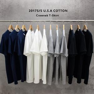 纯色短袖男 圆领宽松基本款oversize白色tee 青少年学生纯棉T恤