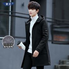 风衣男2018冬季新款潮牌中长款大衣男装休闲外套加绒保暖韩版披风