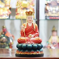 包邮树脂佛像玻璃钢 16寸七彩地藏王 38cm唐三藏菩萨 红衣地藏王