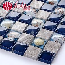 马赛克 149天然贝壳水晶玻璃石材 拼图背景墙贴卫生间瓷砖