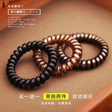韩版电话线发圈扎头发马尾小清新饰品头饰韩国发绳头绳发带橡皮筋