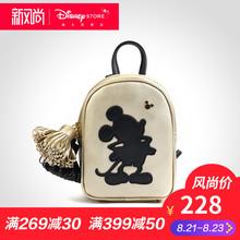 迪士尼时尚 黑金米奇可爱小包背包双肩包 女 新款包包