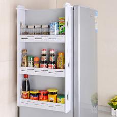 冰箱挂架侧壁挂架挂钩挂件保鲜袋卷纸收纳架厨房置物架调料架创意