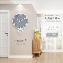 钟表客厅静音艺术轻奢摇摆钟ins 北欧挂钟现代简约创意欧式个性