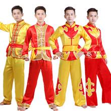 舞龙舞狮服鼓舞服赛龙舟 打鼓服秧歌服装 民族舞蹈演出服装 新款 男装