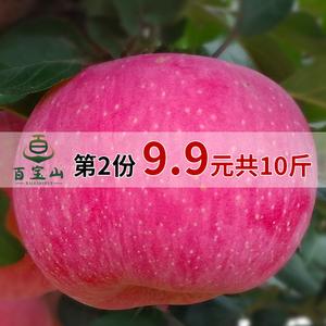 山东特产烟台苹果新鲜红富士第二份9.9元共10斤包邮脆甜水果现货红富士新鲜水果