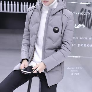 棉衣男士冬季外套2019新款韩版潮流青少年中长款棉袄羽绒棉服男生