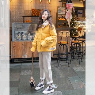 小个子羽绒服女短款冬季2018新款韩版网红时尚显瘦学生面包服棉袄