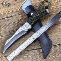 户外小刀丛林锻打军刀爪子刀便携刀具防身军工刀随身直刀爪刀锋利