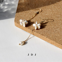 Freshwater pearl Baroque Earrings female long unsymmetrical tasseled super fairy eardrop temperament 2019 new style tidal ear clip