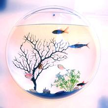 饰品鱼缸创意挂饰花瓶生日礼品花器 壁挂式墙饰创意饰品墙上家居装