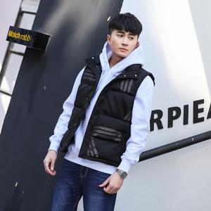 2018春季韩版青少年学生潮流帅气休闲男士bf羽绒棉衣服运动马甲