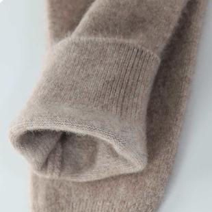 冬季高腰纯羊绒裤女士全羊毛裤男式加厚保暖裤修身打底裤薄款棉裤