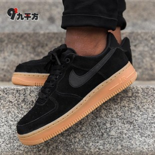 Nike Air Force 1 '07 LV8麂皮黑生胶板鞋AA0287 AA1117 200 001