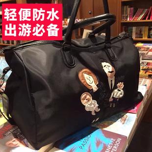 短途旅行包女手提包大容量休闲健身包女妈咪包出差包男士旅游包袋