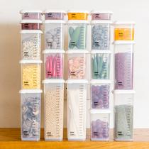 透明塑料密封罐厨房大号五谷杂粮收纳盒储物罐食品级面条盒干货罐