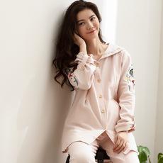 月子服春秋季纯棉产后孕妇睡衣秋冬哺乳衣套装外出家居服时尚喂奶