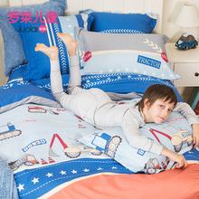 罗莱家纺全棉被套床单床上用品套件1.2/1.5米床纯棉卡通四件套