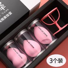 葫芦粉扑干湿两用化妆海绵美容工具葫芦棉彩妆盒装 3个x1盒 美妆蛋
