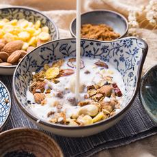 手工烘焙即食代餐坚果熟燕麦片粥400g营养混合果仁谷物羹免煮干吃