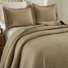 绗缝被床盖 绗缝单件纯棉盖被全棉水洗被 衍缝被欧式纯色三件套