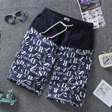 运动裤衩子男夏季潮流宽松加肥加大棉麻沙滩裤男薄款速干海边度假