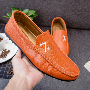 2018 fashion men s summer Peas shoes,casual leather low shoe