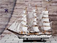 守局拼渴止ぜ揖幼柏饰摆件 木质80cm大型工艺品帆船模型 送人礼品