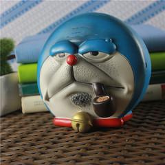 创意个性可爱卡通哆啦a梦小黄人烟灰缸带盖大号储物男友礼品包邮