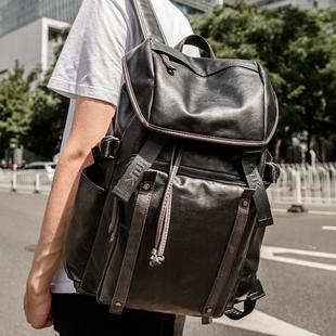 双肩包男士韩版休闲旅行背包双肩包男电脑包大学生书包男时尚潮流