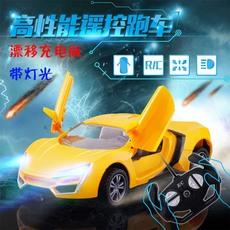 方向盘遥控车充电可开门汽车漂移赛车男孩儿童玩具电动模型耐摔