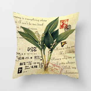 Comfortable modern creative cotton and linen pillowcase deco