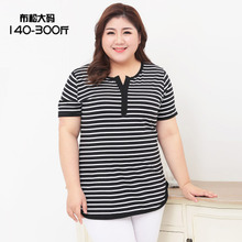 women t-shirts plus size summer casual striped shirt 8xl 7xl