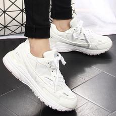 气垫鞋厚底女鞋韩版运动鞋2016春款跑步鞋真皮休闲鞋学生松糕鞋潮