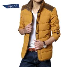 男装羽绒服男短款修身立领男士保暖白鸭绒冬装潮服男外套韩版青年
