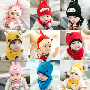 春秋季新生儿帽子胎帽婴儿帽子0-3-6-12个月小孩男女童宝宝棉帽冬