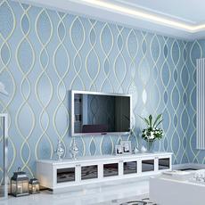 雅木 现代竖条纹个性3D墙纸 客厅电视背景墙影视墙壁纸卧室无纺布