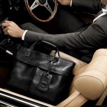 斯菲莱克男士 手提包真皮商务男包横款 单肩斜跨休闲包包公文皮包潮